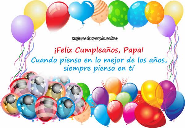 47 Tarjetas Y Frases De Cumpleaños Para Papá