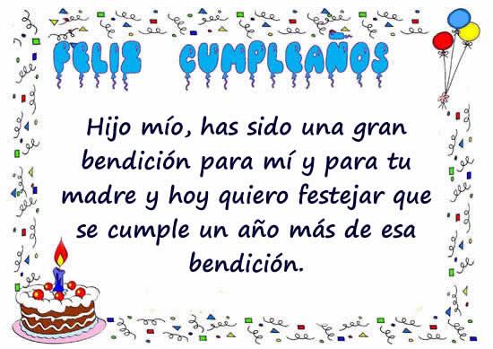 47 Tarjetas Y Frases De Cumpleaños Para Un Hijo2019