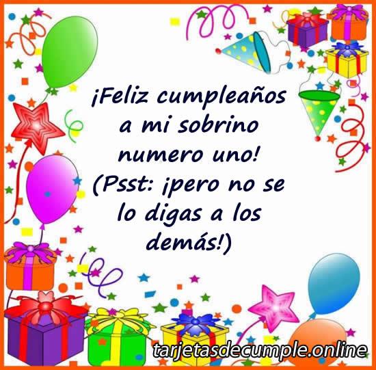 27 Tarjetas De Cumpleaños Para Un Sobrino2019
