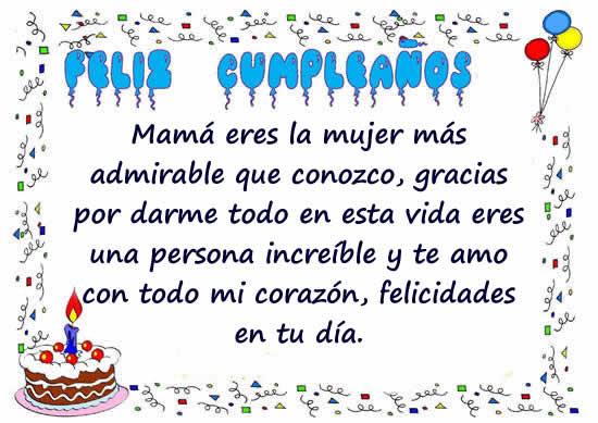 47 Tarjetas Y Frases De Cumpleaños Para Una Madre